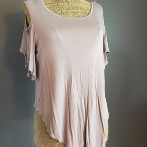 Rolla Coster Tan Open Shoulder Top